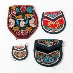 Four Northeast Beaded Pouches
