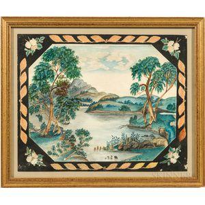 American School, 19th Century      Lake and Mountain Scene