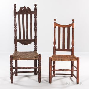 Two Bannister-back Side Chairs