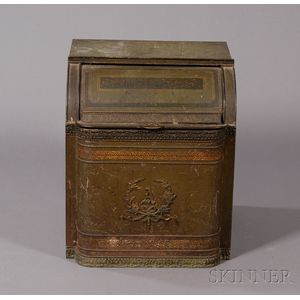 Painted Tin Tea Bin