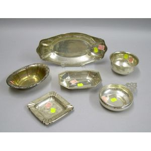 Sterling Silver Bowl, Ashtray, Tray, a Gorham Sterling Porringer, and Two Bowls.