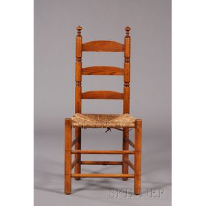 Maple and Chestnut Slat-back Side Chair