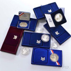 Twelve Cased Commemorative Coins