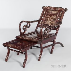 Mother-of-pearl Inlaid Moon-viewing Chair
