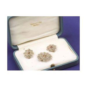 Set of Edwardian Diamond and Gem-set Slides
