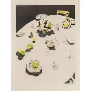 Fairfield Porter (American, 1907-1975)      The Table
