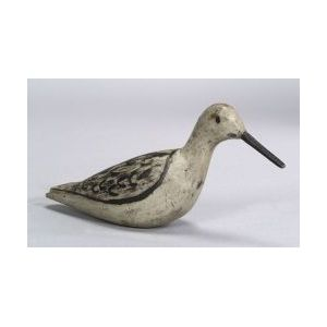 Carved and Painted Lesser Yellow Legs Shorebird Decoy