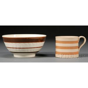 Earthenware Bowl and Porter Mug