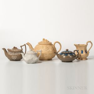 Five Wedgwood Dry Body Stoneware Items