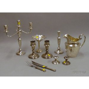 Group of Sterling and Silver Plated Serving Items