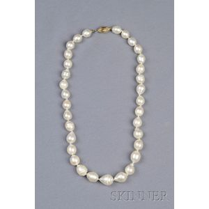 South Sea Semi-Baroque Pearl Necklace
