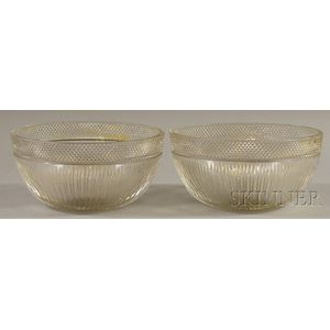 Pair of Libbey Colorless Cut Glass Bowls