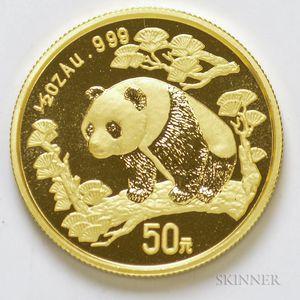 1997 Chinese 50 Yuan Large Date Gold Panda.