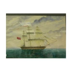 American or British School, 20th Century  A Second Class Sloop of War of 28 Guns in Stays.