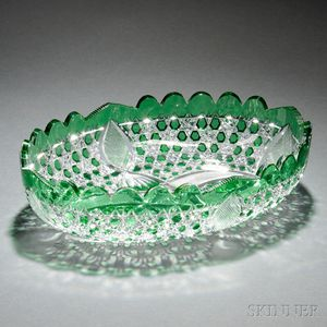 American Green Cut-to-Clear Glass Bowl