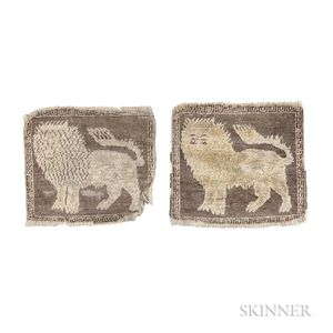 Pair of Karabagh Lion Mats