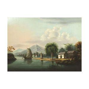 Chinese School, 19th Century  Mountain River Scene.