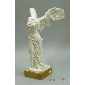 Cast Plaster Figure Winged Victory