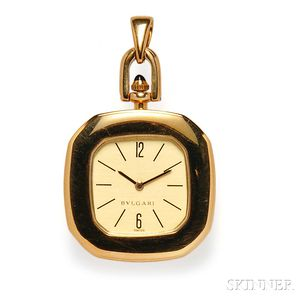 18kt Gold Pendant Watch, Bulgari