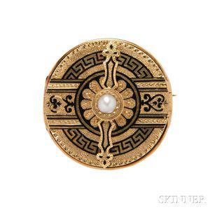 Antique 18kt Gold and Enamel Locket