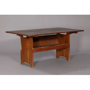 Cherry and Pine Chair Table