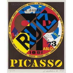 Robert Indiana (American, b. 1928)      Picasso