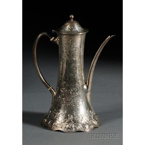 Tiffany & Co. Sterling Acid-etched Demitasse Pot