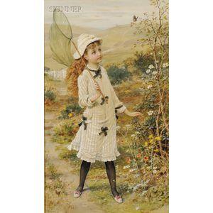 William Stephen Coleman (British, 1829-1904)      The Butterfly Catcher