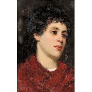 Italian School, 19th/20th Century      Portrait Head of a Dark Haired Boy