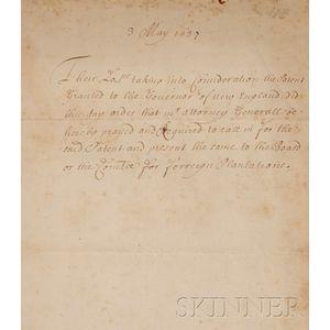 (Colonial America, Massachusetts Charter)