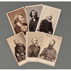 Cartes-de-Visite Album of Prominent 19th Century Figures