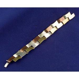 Mixed Metal Bracelet, Metales Cajadu, Taxco