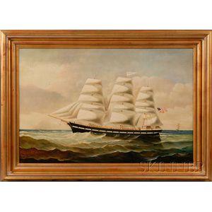 American School, 19th/Early 20th Century      Portrait of the Ship AMERICA.