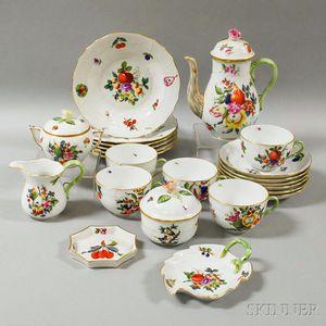 Twenty-two Pieces of Herend Porcelain Tableware