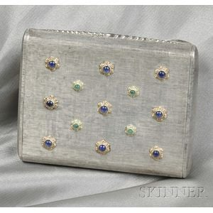 Sterling Silver Gem-set Compact, M. Buccellati, Italy
