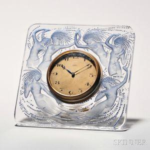 """Lalique """"Naiades"""" Clock"""