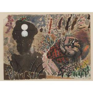 (Hadjikinakos) Nicolas Ghika (Greek, 1906-1994)  Lot of Three Modern Works on Paper Including Abstracted Landscapes and Figural Views