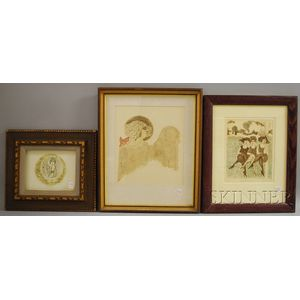 Carol Travers Lummus (American, 20th/21st Century)      Three Framed Intaglio Works.