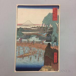 Ando Hiroshige Reproduction Woodblock Print
