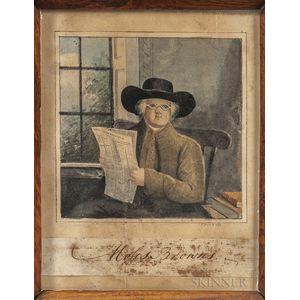Joseph Partridge (Rhode Island, 1792-1833)      Portrait of Moses Brown
