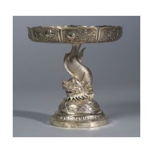 Chinese Silver Tazza