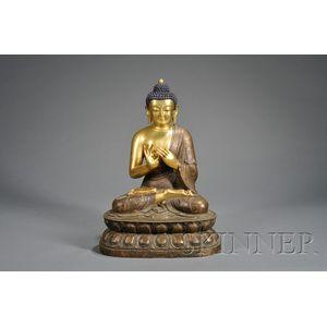 Large Gilt-bronze Buddha