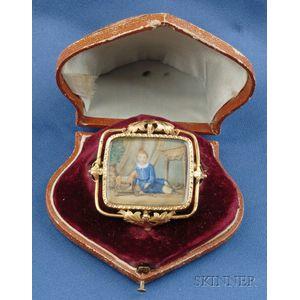 Antique Portrait Miniature, attributed to Anton Graff