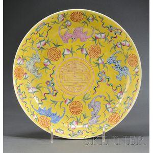 Polychrome Enameled Plate