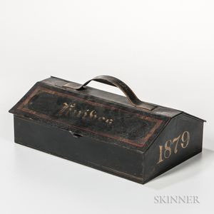 Painted Tin Cutlery Tray