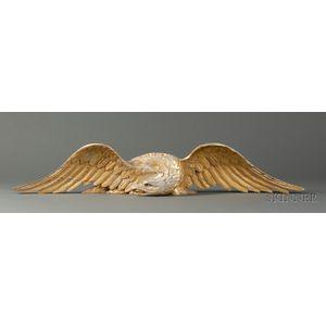 Gilt Carved Wooden Eagle