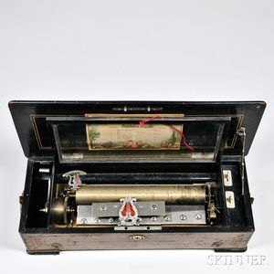 Six-air Mandoline Piccolo Cylinder Musical Box