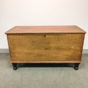 Pennsylvania Putty-painted Six-board Chest