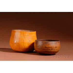 Two Hawaiian Turned Wood Bowls