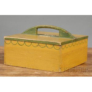 Yellow- and Green-painted Pine Carrier